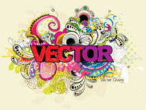 Creation abstract text Stock Image