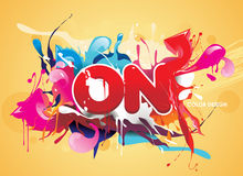 Creation abstract text Royalty Free Stock Photo