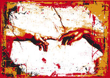 Creation of Adam. A vector illustration of Creation of Adam Stock Images