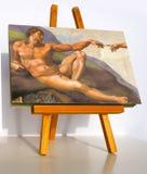 Creation of Adam. Detail of Michelangelo's fresco Creation of Adam, detail Stock Photos