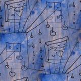 Creation blue, black, gray contemporary avant- Royalty Free Stock Photo