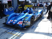 Creation CA07 AIM. Jouanny's Creation Lmp1 being prepared for the 2008 Monza 1000km race Stock Images