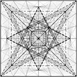 Creation Of Cube And Pyramid On Its Six Sides Vector Stock Images