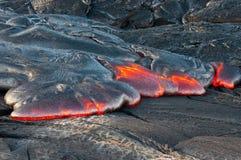 Creation of earth. Lava flow. Hawaii Volcanoes National Park. Big Island, Hawaii Stock Images