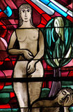 Creation of Eve in stained glass Royalty Free Stock Photos