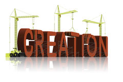 Creation evolution or intelligent design belief Stock Images