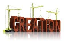 Creation evolution or intelligent design belief. Creation god's work through intelligent design or was it evolution the origin of species of Darwin or the Bible vector illustration