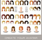 Creation of a fashion female avatars Stock Photography