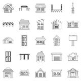Creation icons set, outline style Stock Images