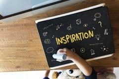 Creation Ideas Light Blue Imagination Arts Development Concept Royalty Free Stock Photography