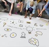 Creation Ideas Light Bule Imagination Arts Development Concept Stock Image