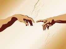 Creation of man royalty free illustration