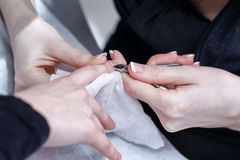 Creation manicure Stock Image