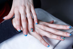 Creation manicure stock images