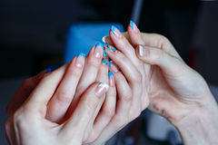 Creation manicure royalty free stock photography