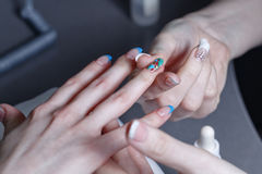 Creation manicure Royalty Free Stock Photos