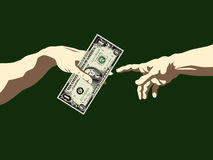 The Creation of Money Stock Image
