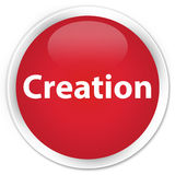 Creation premium red round button. Creation isolated on premium red round button abstract illustration Royalty Free Stock Photo