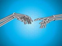 The Creation of Robot stock illustration