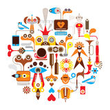 Creation - round vector illustration Royalty Free Stock Images