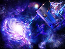 Creation of a spiral galaxy stock illustration