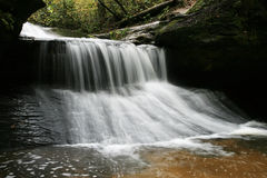 Creation Waterfall. Long exposure of Creation Waterfall in the Red River Gorge region of Kentucky Stock Photos