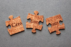 Creationism Jigsaw Mismatched Royalty Free Stock Photo