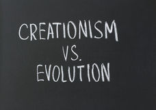 Creationism vs. evolution Royalty Free Stock Image