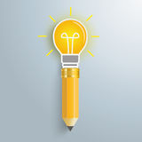 Creativ Pencil Bulb Stock Photos
