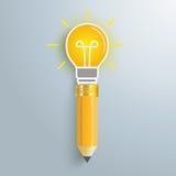 Creativ Pencil Bulb Stock Photos