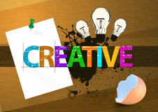 Creative. Abstract color design to place text. adobe illustrator file is available Stock Image