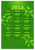 Creative 2012 calender template Stock Image