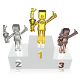 Creative 3d business man awards ceremony Stock Photography
