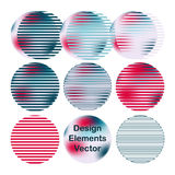 Creative abstract art circles. Design elements. Creative circles design. Vector Design elements gradient colors Royalty Free Stock Photography