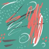 Creative abstract artistic hand drawn pattern with doodles Stock Photography