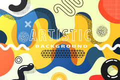 Creative abstract background. Bright and high contrast background for poster, card, flyer, brochure and web design. Pop art, memphis and 80s style waves stock illustration