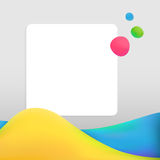 Creative abstract background with bright waves. Creative abstract grey background with bright colorful waves, drops and blank space for text Stock Illustration