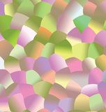 Creative  abstract background. Colorful mosaic  pattern with colored spheres. Vector clip art. Geometric sample of repeating circles in halftone style Royalty Free Stock Photo