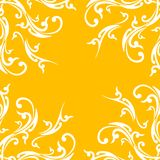 Creative abstract background with floral element on orange color Stock Image