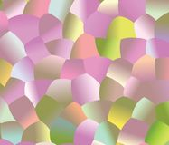 Creative  abstract background. Light Pink, Light Green and Yelow pattern with colored spheres. Vector clip art. Geometric sample of repeating circles in Royalty Free Stock Image