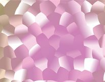 Creative  abstract background. Light Pink pattern with colored spheres. Vector clip art. Geometric sample of repeating circles in halftone style. Beautiful Stock Image