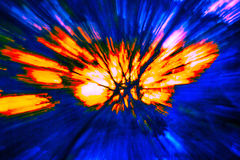 Creative abstract background reminding of a burst. Creative abstract artistic background reminding of a burst full of dynamics and colour Stock Photos