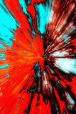 Creative abstract background reminding of a burst. Creative abstract artistic background reminding of a burst full of dynamics and colour Royalty Free Stock Photos
