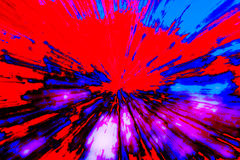 Creative abstract background reminding of a burst. Creative abstract artistic background reminding of a burst full of dynamics and colour Royalty Free Stock Photography