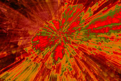 Creative abstract background reminding of a burst. Creative abstract artistic background reminding of a burst full of dynamics and colour Stock Photo