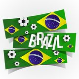 Creative Abstract Brazilian Flag. Vector illustration Royalty Free Stock Photography