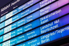 Arrival and departure board in Germany Royalty Free Stock Photo