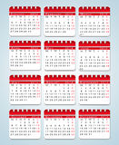 Creative Abstract  Calendars. Royalty Free Stock Images