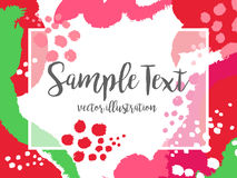 Creative abstract colorful vector background with spots and brush strokes.  Stock Photos