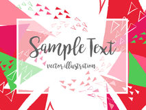 Creative abstract colorful vector background with triangle and lines. Stock Photography